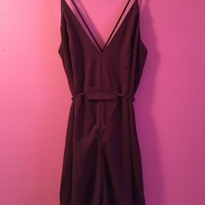 Maroon Nasty Gal Romper Size S, Perfect Condition